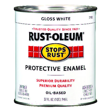 Rust-Oleum Indoor and Outdoor Oil Based Protective Enamel White Gloss 1 qt.