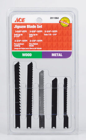 Ace Metal U-Shank Jig Saw Blade Set 5 pk