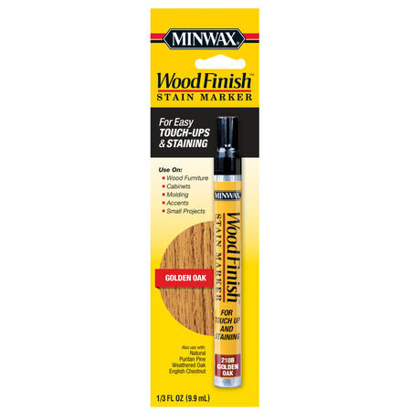Minwax Wood Finish Semi-Transparent Golden Oak Oil-Based Stain Marker 0.33 oz.