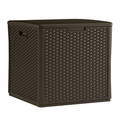 Suncast Outdoor Storage Cube Plastic 26-3/4 in. H x 27-1/2 in. D x 26-1/4 in. W