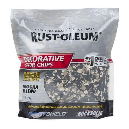 Rust-Oleum Decorative Color Chips Satin Mocha Blend 1 lb.
