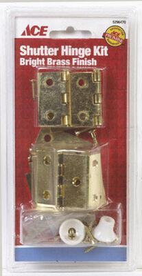 Ace Brass Shutter Hinge Bright Brass 2 pk