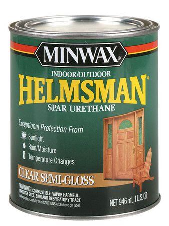 Minwax Helmsman Indoor and Outdoor Clear Semi-Gloss Spar Urethane 1 qt.