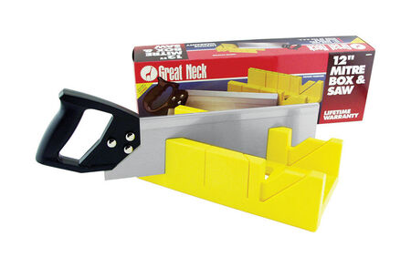 Ace 12 in. L x 3 in. D Plastic Mitre Box with Back Saw