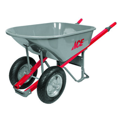 Ace Steel Dual Wheel Wheelbarrow 6 cu. ft.