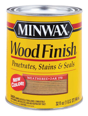 Minwax Wood Finish Transparent Oil-Based Wood Stain Weathered Oak 1 qt.