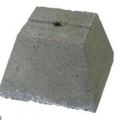 """Pier Concrete 16""""H"""