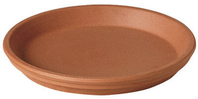 Deroma Terracotta Clay Traditional Plant Saucer 1 in. H x 6.75 in. W