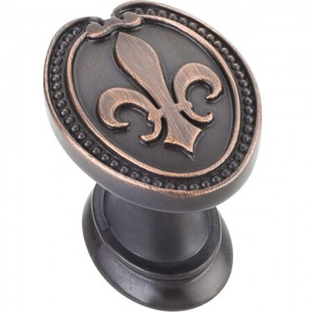 "1-5/16"" Overall Length Fleur-de-lis Knob Brushed Oil Rubbed Bronze"