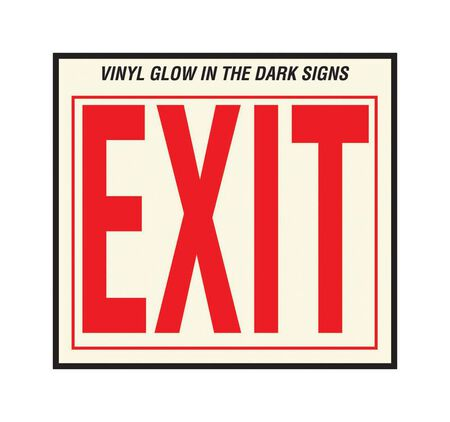 Hy-Ko English 10 in. H x 12 in. W Vinyl Sign Exit
