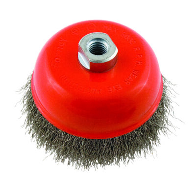 Forney 5 in. Dia. 0.625 Crimped Wire Cup Brush