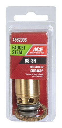 Ace Low Lead Hot 6S-3H Faucet Stem For Chicago Faucets