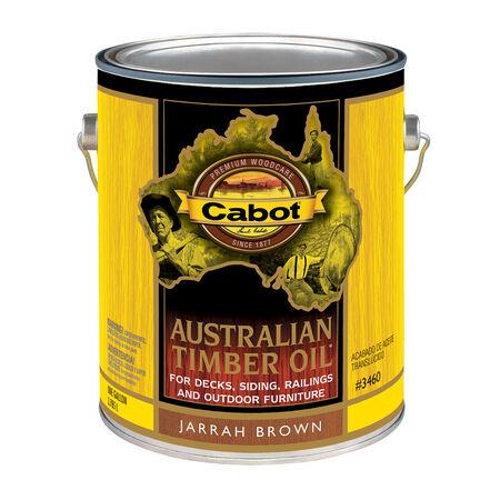 Cabot Transparent Jarrah Brown Oil-Based Penetrating Oil Australian Timber Oil 1 gal.