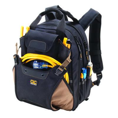 CLC Work Gear Heavy Duty Poly Fabric Backpack Tool Bag 36 inside pockets 8 outside pockets