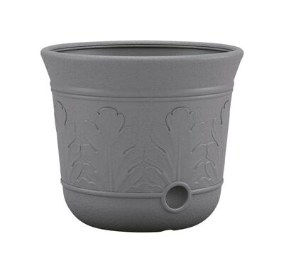 Suncast Free Standing Decorative Hose Pot 300 ft. Gray