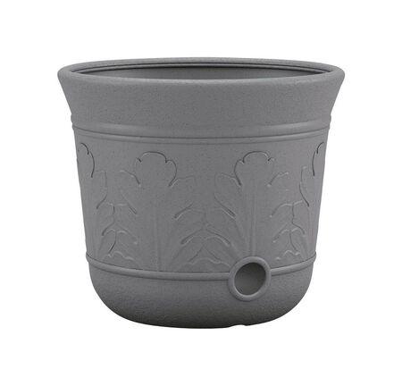 Suncast Free Standing Decorative Hose Pot 300 ft. Gray