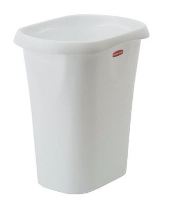 Rubbermaid 12 White Open Top Wastebasket