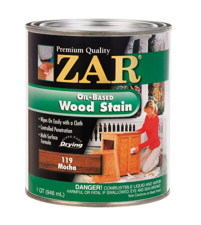 ZAR Semi-Transparent Oil-Based Wood Stain Mocha Tintable 1 qt.