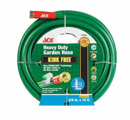 Ace Pressure Master 5/8 in. Dia. x 75 ft. L Garden Hose Kink Resistant