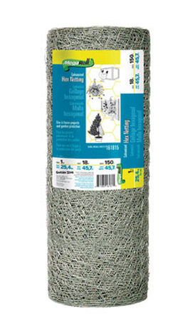Garden Zone Poultry Netting 18 in. H x 150 ft. L 20 Ga. Silver