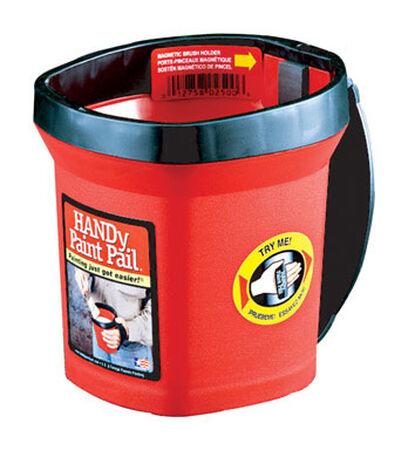 HANDy Paint Pail Plastic Bucket 1 qt. Red