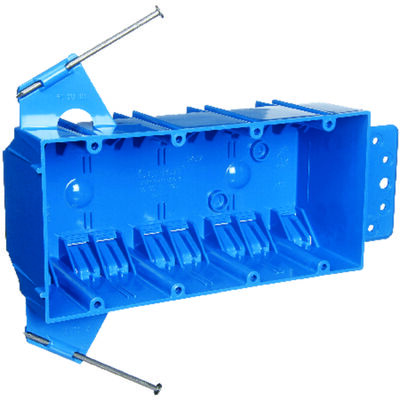 Carlon 7-3/5 in. H Rectangle 4 Gang Outlet Box Blue PVC