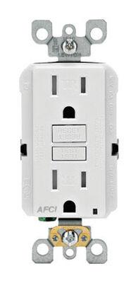 Leviton SmartlockPro AFCI Receptacle 15 amps 5-15R 125 volts White