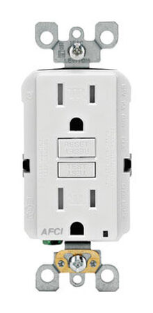Leviton SmartlockPro AFCI Receptacle 15 amps 5-15R 125 volts White