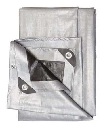 Ace Silver/Black Heavy Duty Tarp 6 ft. W x 8 ft. L