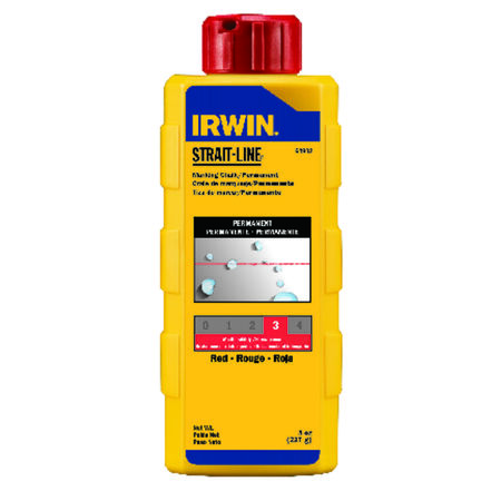 Irwin Strait-Line 8 oz. Red Mason Line Chalk Permanent