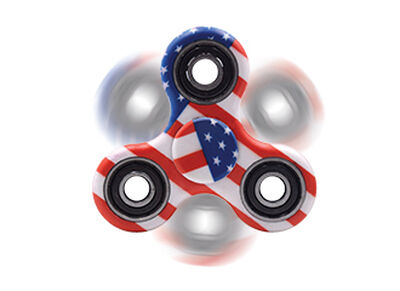 USA flag fidget spinner