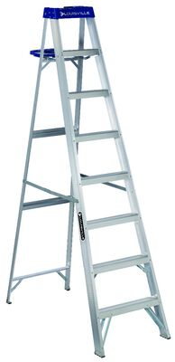8 ft Louisville AS2108 Aluminum Step Ladder, Type I, 250 lb Load Capacity