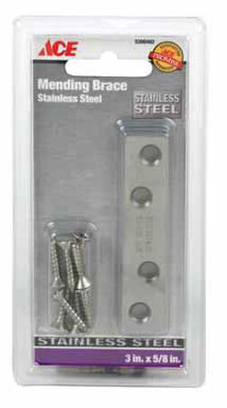 Ace Mending Brace 3 x 5/8 Stainless Steel 1 pk Carded