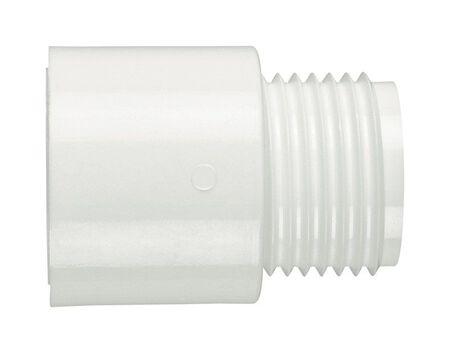 Lasco PVC Adapter 3/4 in. Dia. x 3/4 in. Dia. White 1 pk