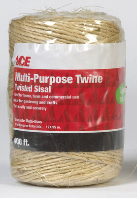 Ace 400 ft. L Twisted Sisal Twine Brown