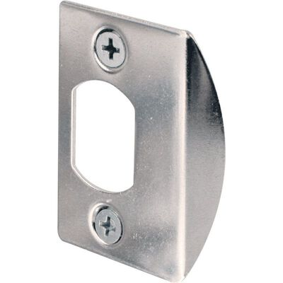Prime-Line Latch Strike Plate 2.25 in. H x 1-5/8 in. L Chrome