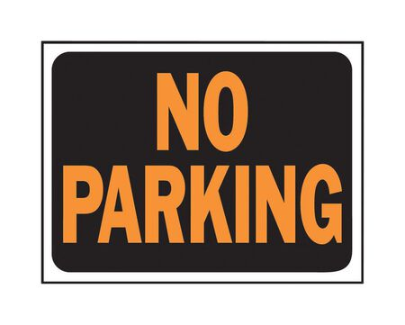 Hy-Ko English 9 in. H x 12 in. W Plastic Sign No Parking