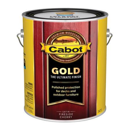 Cabot Gold Transparent Satin 3472 Fireside Cherry Oil-Based Natural Oil/Waterborne Hybrid Sta