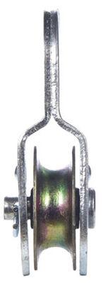 Campbell Chain Single Sheave Rigid Eye Pulley 1-1/2 in. Rigid 420 lb. Steel