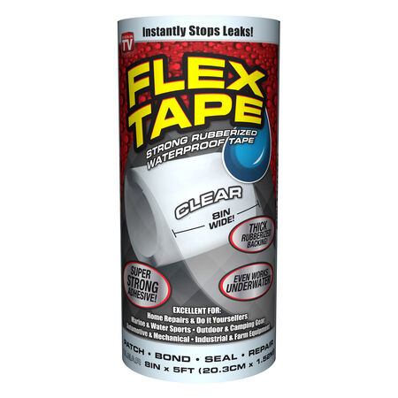 """Tape Flex 8""""x5' Clear Waterpro"""
