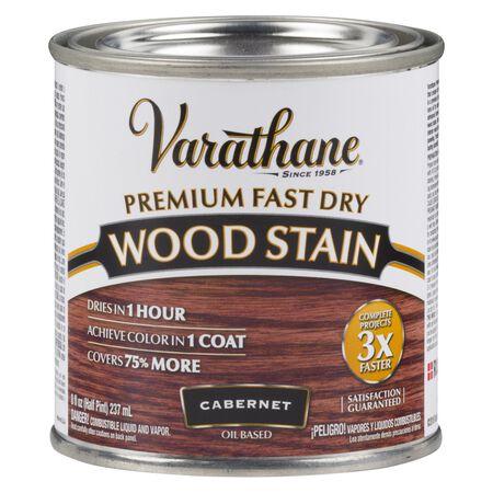 Varathane Premium Fast Dry Semi-Transparent Oil-BaSed Wood Stain Cabernet .5 pt.