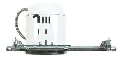 Halo 6 in. W White Nickel Aluminum LED 6 in. Recessed Light Housing