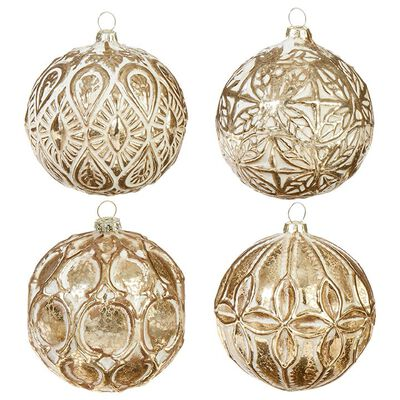 """3.5"""" Patterned Ball Ornament"""