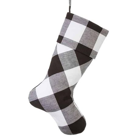 "19"" Checked Stocking"