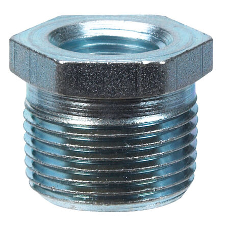 B & K 3/8 in. Dia. x 1/4 in. Dia. MPT To FPT Galvanized Malleable Iron Hex Bushing