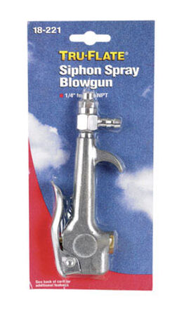 Tru-Flate Steel Siphon Spray Blow Gun 1/4 in. ID