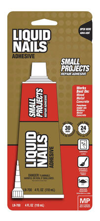 Liquid Nails Small Projects Repair Adhesive 4 oz.