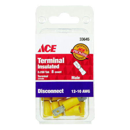 Ace Industrial Male Disconnect Vinyl 8 Yellow