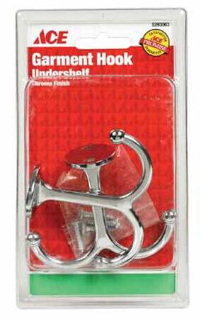 Ace Medium Undershelf Hook 3-1/2 in. L Metal 2 pk