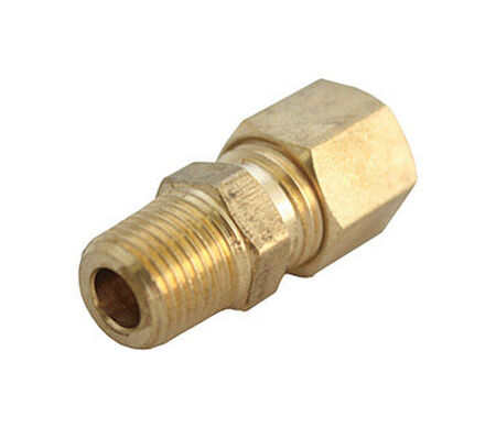 JMF 1/8 in. MPT Dia. x 1/8 in. MPT Dia. Brass Compression Fitting